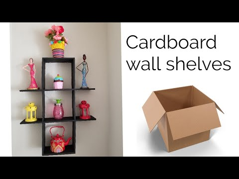 DIY Cardboard Shelves | best out of waste idea
