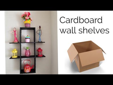Diy Cardboard Shelves Best Out Of Waste Idea