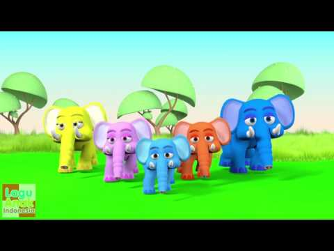 Jari Jariku - GAJAH 3D  (Elephant Finger Family Song) | Lagu Anak Indonesia