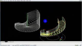VẼ CẦU THANG XOẮN TRONG 1 NỐT NHẠC-3D CAD-PHẦN 1 ( NAM HAI COT )