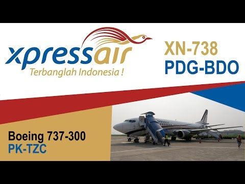 Xpress Air Flight XN-738 Boeing 737-300 PDG (Padang) to BDO (Bandung) PK-TZC
