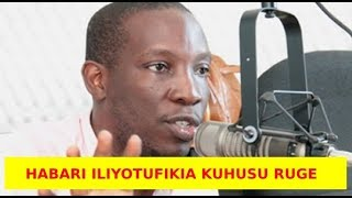 Breaking News: Habari Mpya Iliyotufikia Kuhusu Ruge Mutahaba Aisee Inasikisha Sana