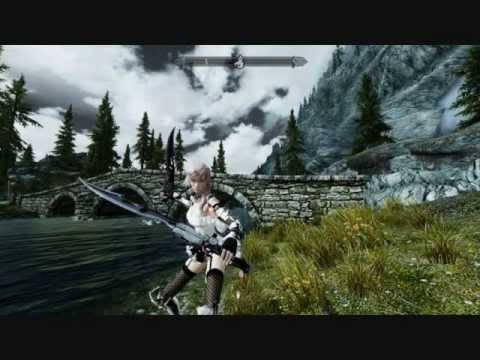 TES 5: Final Fantasy XIII's Lightning Strikes Skyrim [WITH DOWNLOAD+NO MASK UPDATE]