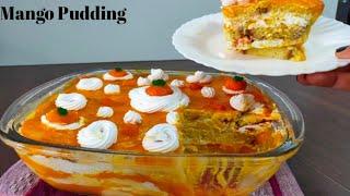 Mango pudding recipe|Mango desert|How to make Pudding|Summer desert|Cake pudding|Mango recipes