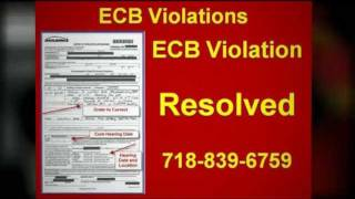 ECB Violations | Help Right Now for Your ECB Violation and ECB Violations
