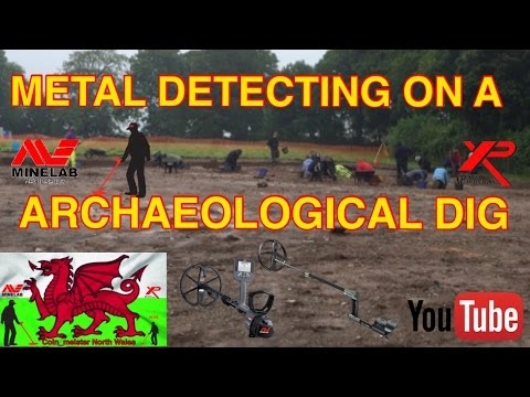 Metal Detecting on a Archaeological Dig Part 1