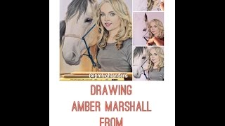 Drawing Amber Marshall from Heartland