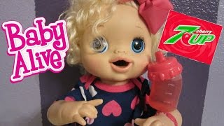 BABY ALIVE DOLL-- How to make your own Baby Alive Soda--CHEAP!!