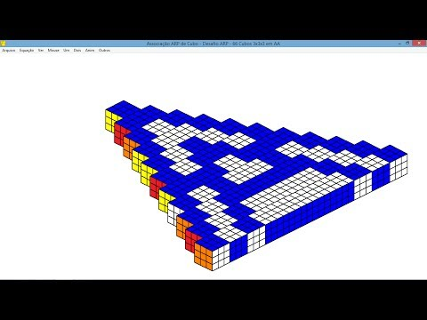 Associação ARP de Cubo - Desafio ARP - 66 Cubos 3x3x3 em AA (1,24segundo/imagem - Vídeo1)