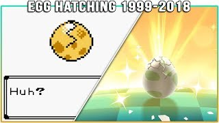 Evolution of Pokémon Egg Hatching (1999-2018)