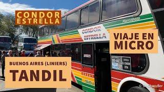 Viaje en omnibus de Buenos Aires (Liniers) a Tandil - Condor Estrella