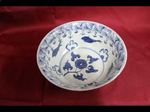 #14 Antique Chinese porcelain Ming dynasty bowl.avi
