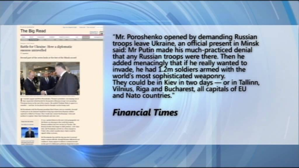 Poroshenko Threatened Putin Over Dead Russian Troops: Threat claims  published in UK Financial Times