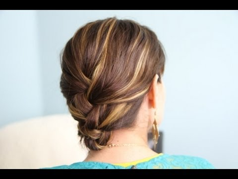 french braid & tuck diy hairstyles
