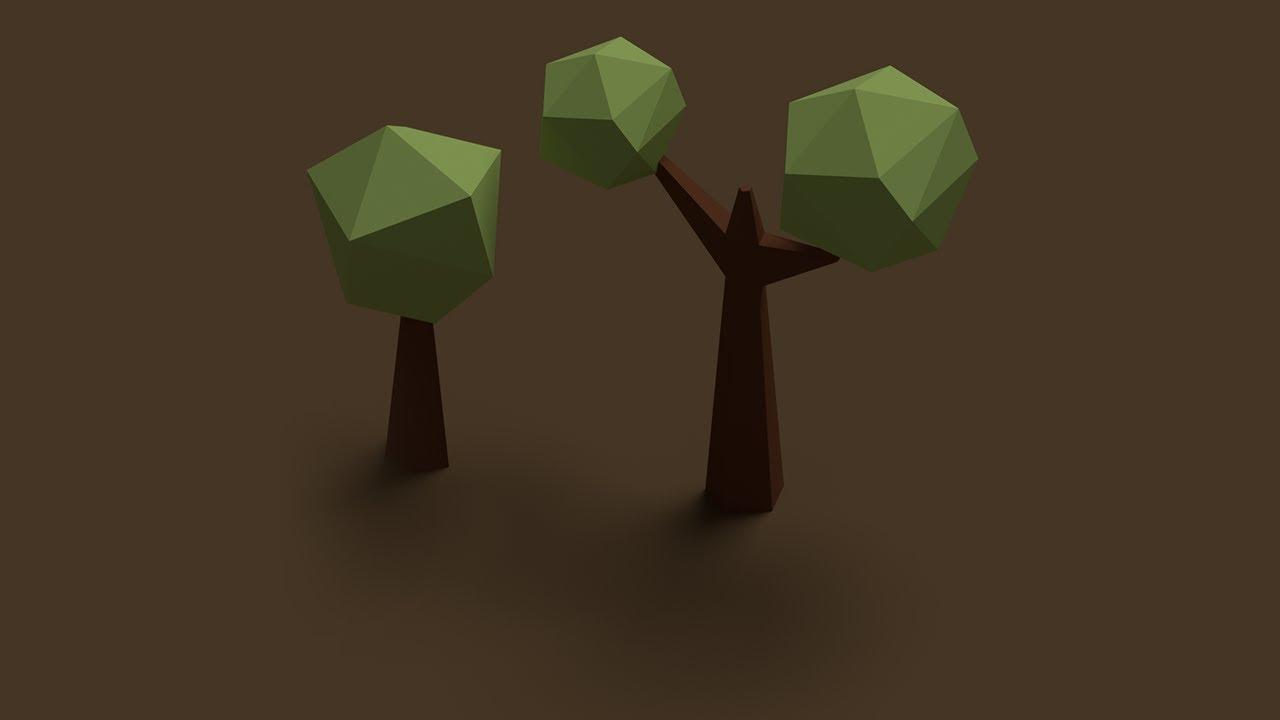 Blender tutorial low poly standard tree youtube baditri Choice Image