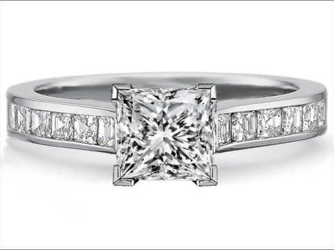 Square Diamond Rings White Gold Designs Youtube