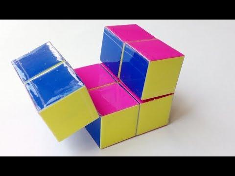 Куб бесконечности из полосок, Вариант 2, Cube of infinity of strips, Option 2