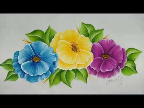 Como pintar flores facil parte 2 youtube - Como pintar cuadros faciles ...