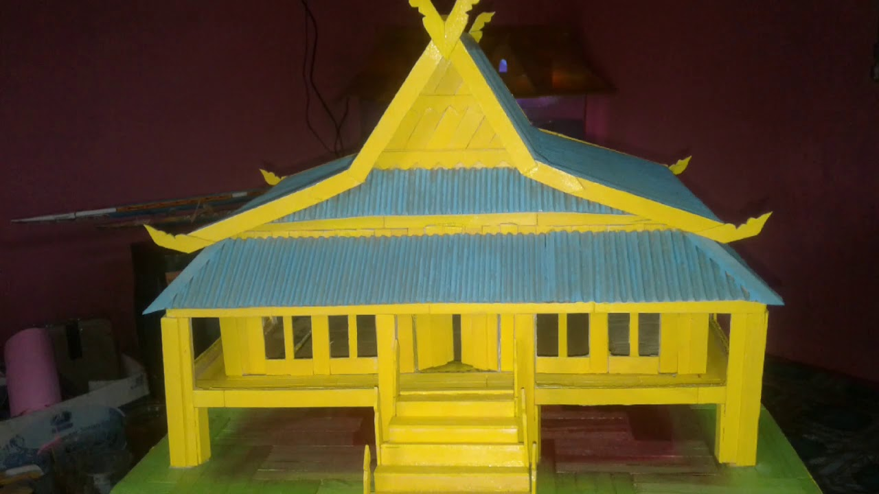 Miniatur Rumah Adat Melayu Riau Rumah Adat Indonesia