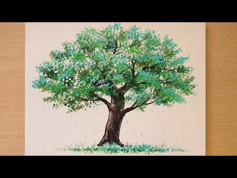 How to draw a tree quickly / Easy painting technique