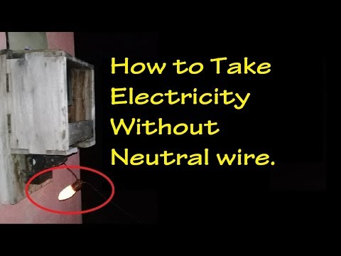How to take Electricity without Neutral