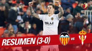 Resumen de Valencia CF vs Real Sporting (3-0)