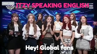 ITZY speaking English M countdown 140219!