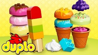 little kelly toys play doh lego duplo ice cream play doh duplo ice cream