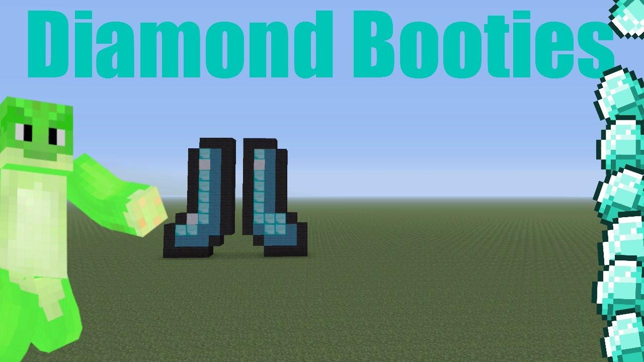 Minecraft Xbox/Ps Diamond Boot Pixel Art Tutorial