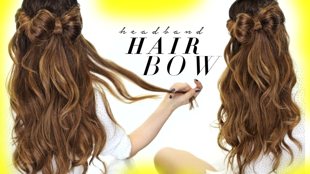 ☆ HAIR BOW Half Updo Hairstyle | HAIRSTYLES For SCHOOL Wedding   YouTube