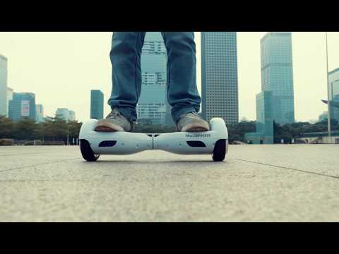 Hoverboard Riding Around Shenzhen Civic Square