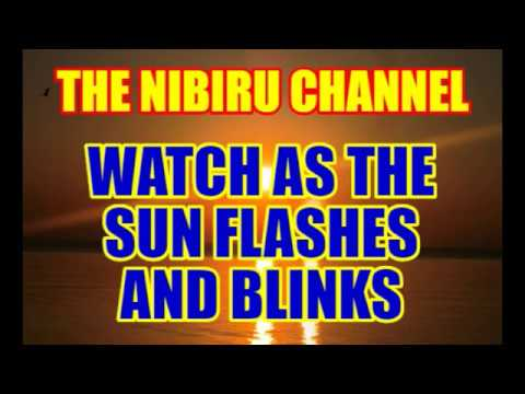 WATCH AS THE SUN BLINKS AND FLASHES! VERY MYSTERIOUS!
