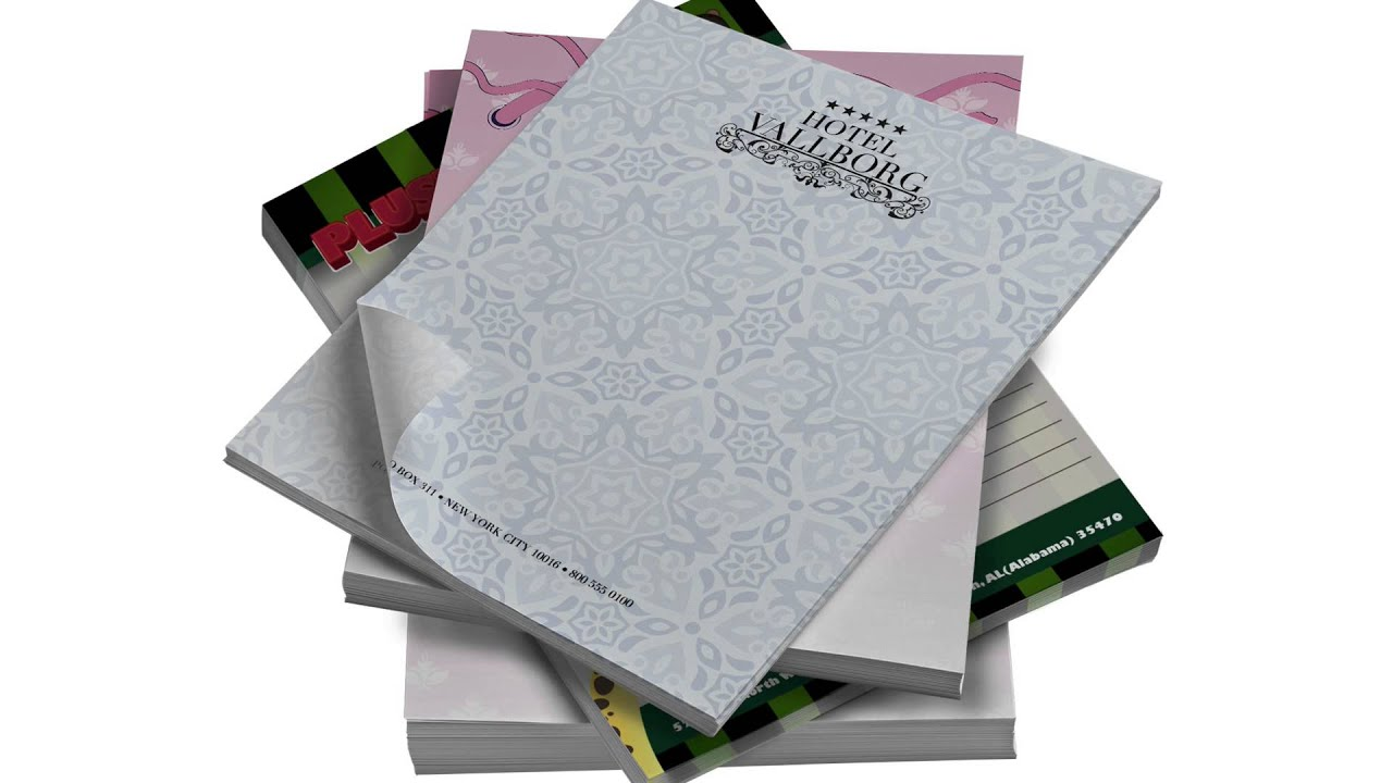 full color custom personalized notepads memo pads houston tx