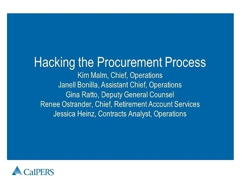 GT2015 Session12 - Hacking the Procurement - CalPers