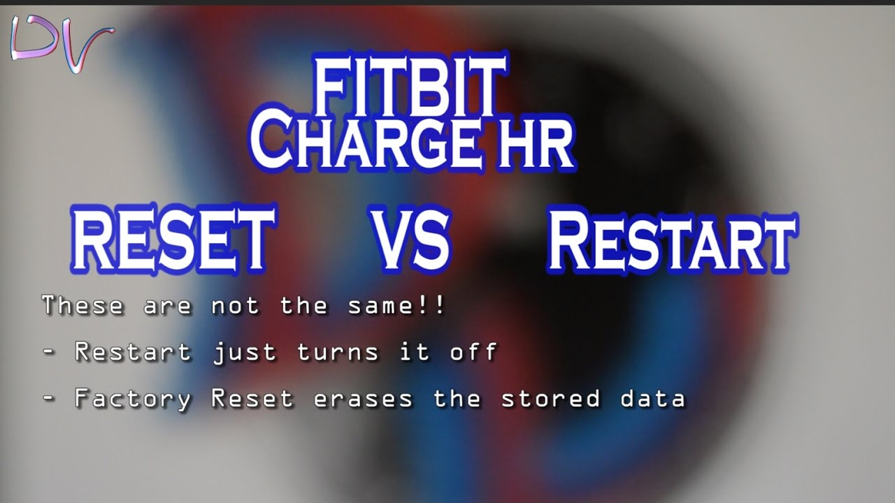 Factory reset, restart or turn off Fitbit charge HR  All in a 2 min video