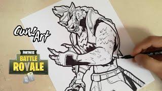 COMO DIBUJAR A LOBUNO | FORTNITE | how to draw werewolf