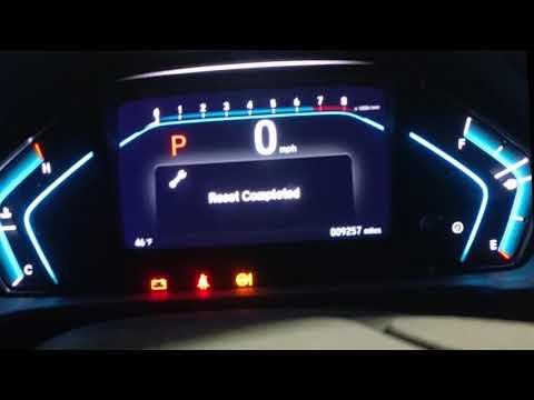 2019 Honda Odyssey Oil Life Change Reminder Reset