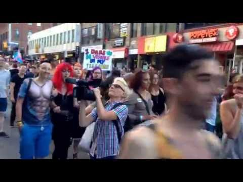 Trans March in Toronto July 1st 2016