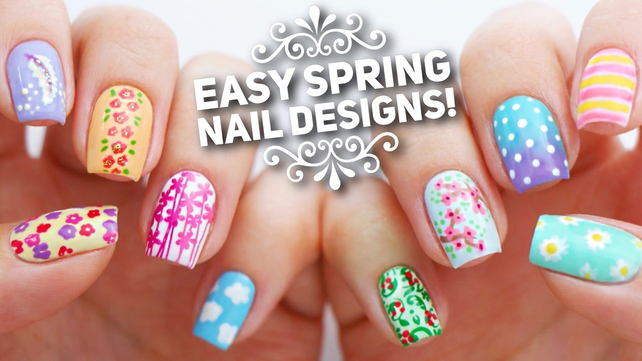 10 Easy Nail Art Designs for Spring ... - 10 Easy Nail Art Designs For Spring The Ultimate Guide! - YouTube