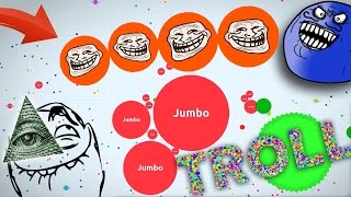 TROLLING PEOPLE IN AGARIO  (Agar.io Funny Momentss)