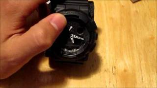 unboxing of the g shock ga100 1a1