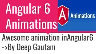 Animations in Angular 6