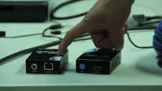 HDMI+IR EXTENDER OVER ONE CAT5e/6 CABLE ACTIVE / LONG DISTANCE (Sample Video)(R01-EXT-HSL-C)