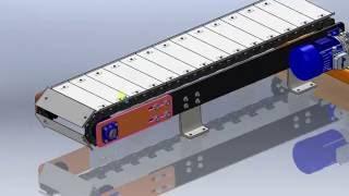 видео: Конвейер Цепной Пластинчатый