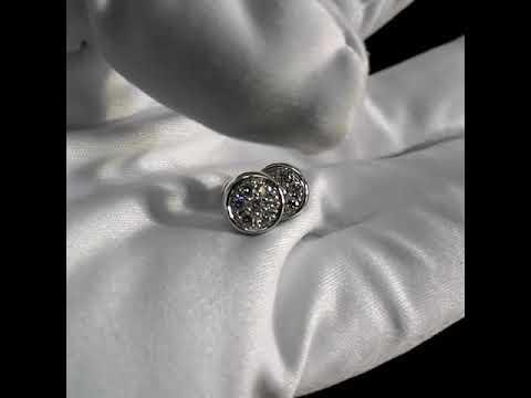 343d4be6ec94 Женские серьги пусеты из белого золота с бриллиантами 💎 на винтовом замке.  Вес 4гр. Арт. i3649