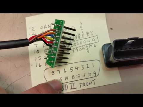 3 Pin Plug Wiring Diagram Trox Vav Obdii Scanner Connector Replacement Step By Actron Cp9135 - Youtube