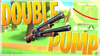 TRYING TO DOUBLE PUMP IN ROBLOX FORTNITE!!! (Island Royale)