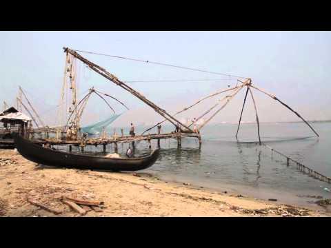 Chinese fishing nets, Kochi, Kerala, India