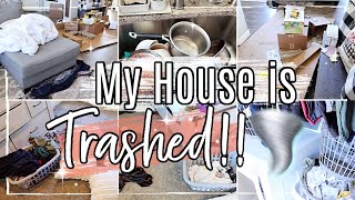 😵 MESSY HOUSE TRANSFORMATION!! :: COMPLETE DISASTER CLEAN WITH ME 2020 :: HUGE CLEANING MOTIVATION