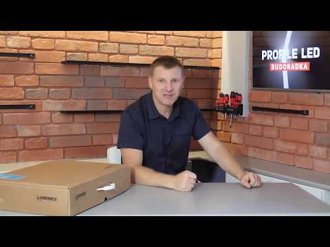 Mario Budowlaniec & Lumines Lighting - montaż profili ZATI i SUBLI - installation of LED profiles
